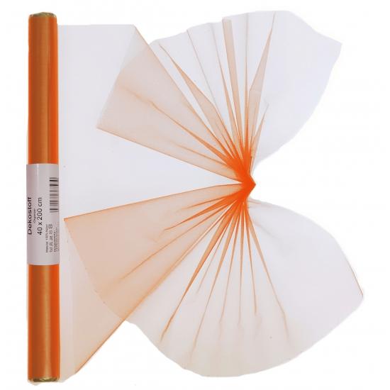 Organza tule rol oranje 40 x 200 cm