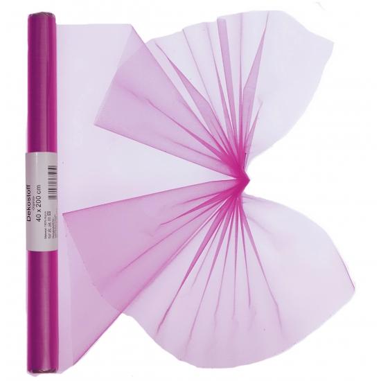 Organza tule rol roze 40 x 200 cm