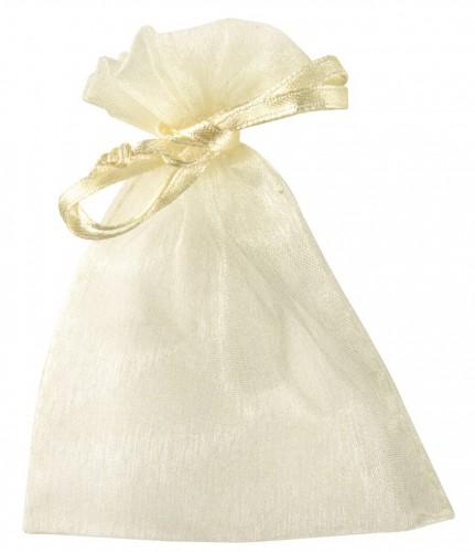 Organza zakjes in creme kleur