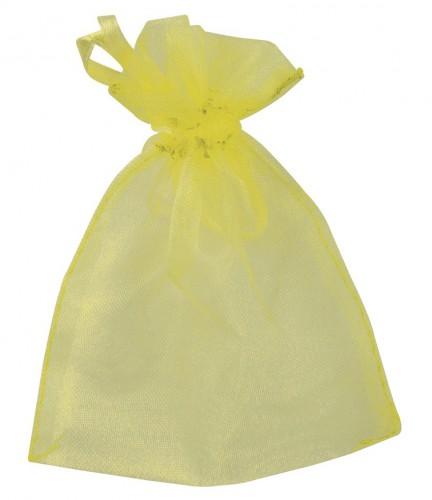 Organza zakjes in gele kleur