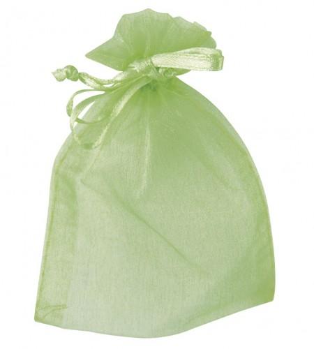 Organza zakjes in groene kleur