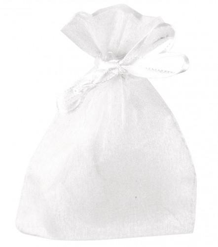 Organza zakjes in witte kleur