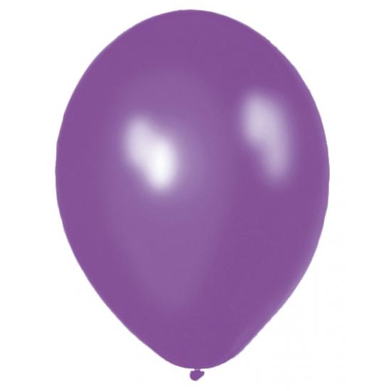 Paarse helium ballonnen 50 stuks