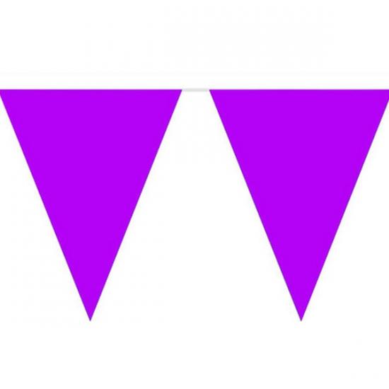 Paarse slinger met vlaggetjes