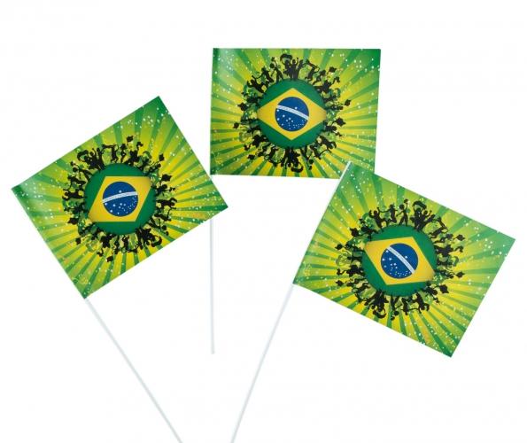 Papieren Brazilie zwaaivlaggetjes