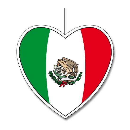 Papieren decoratie hart Mexico 30 cm