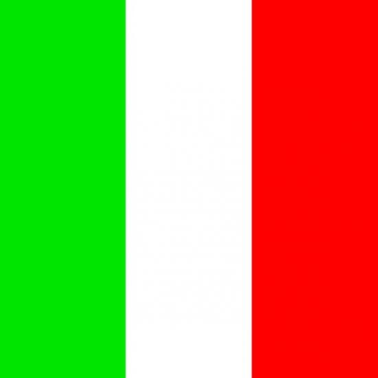 Papieren servetten Italiaanse vlag
