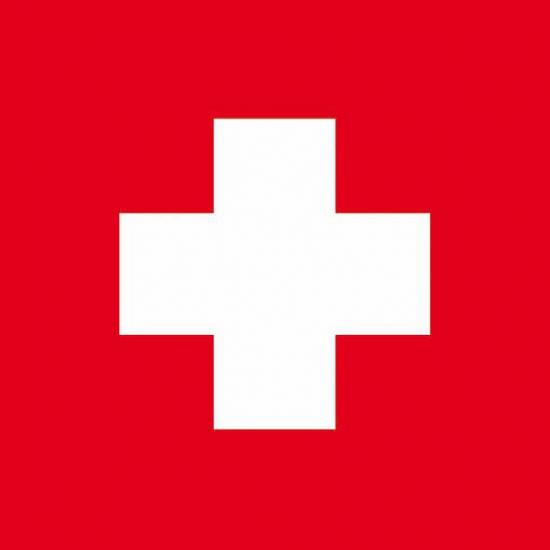 Papieren servetten Zwitserse vlag