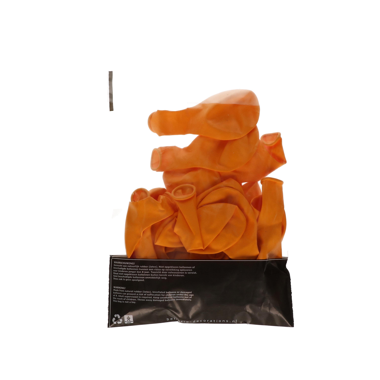 Party ballonnen oranje, 100 stuks