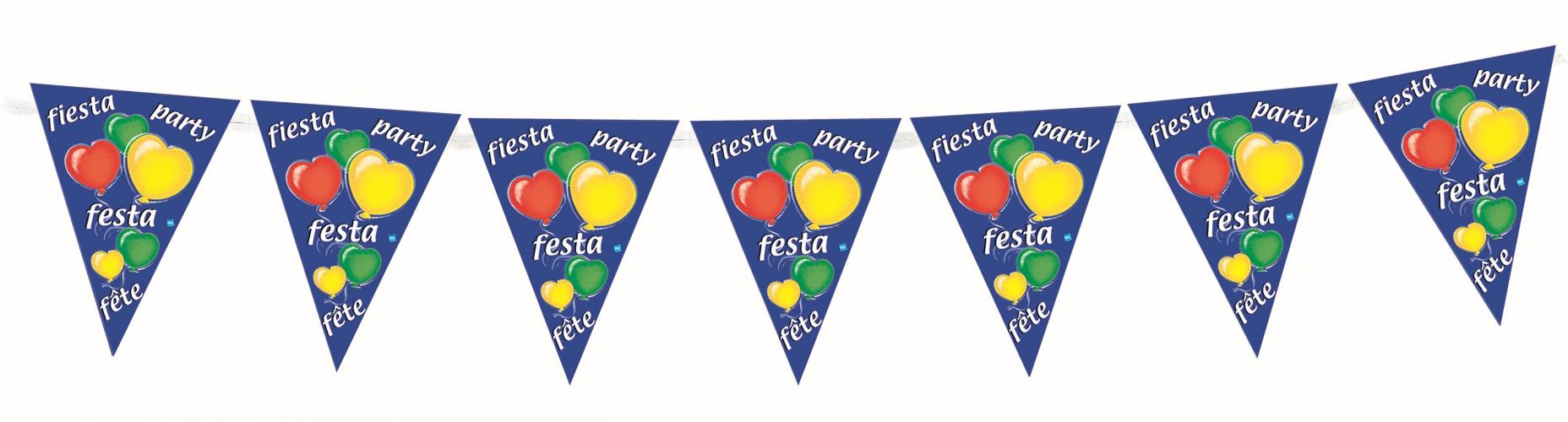 Party feest vlaggenlijn 3,6 meter