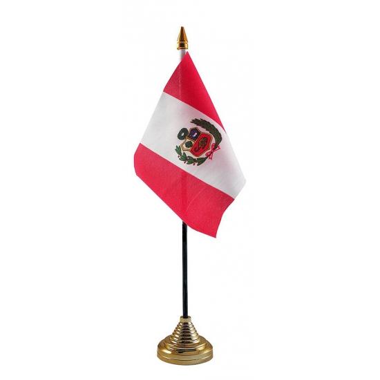 Peru vlag met standaard
