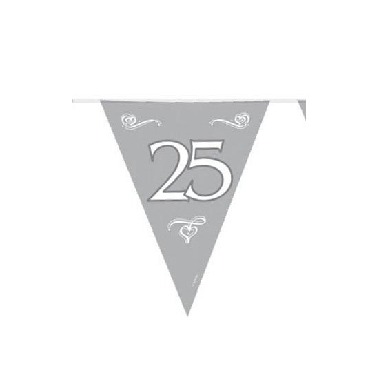 Plastic vlaggenlijn 25 jaar jubileum