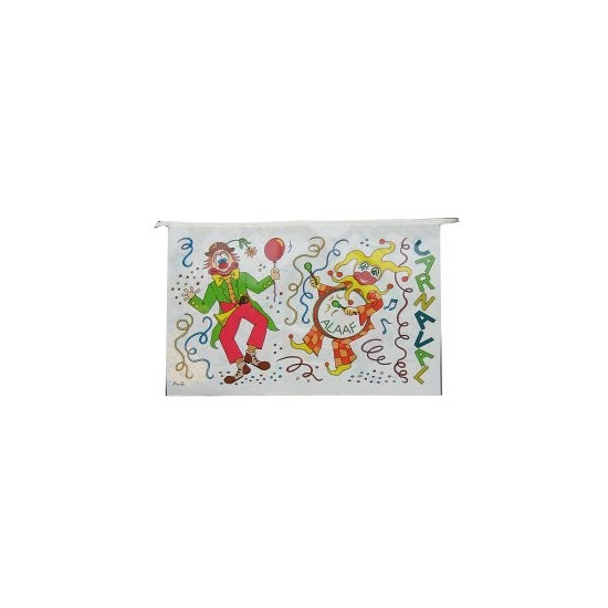 Plastic vlaggenlijn Carnaval