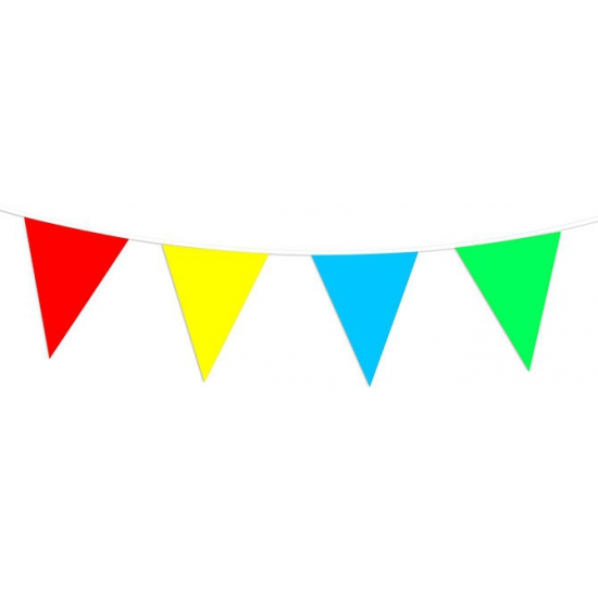 Plastic vlaggenlijn gekleurd 30 meter
