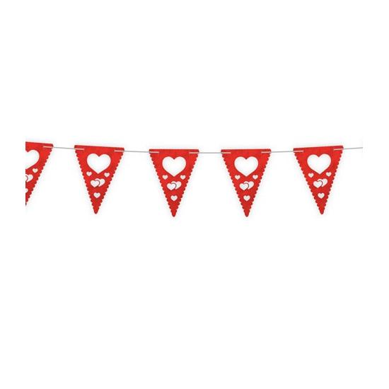 Plastic vlaggenlijn Valentijn