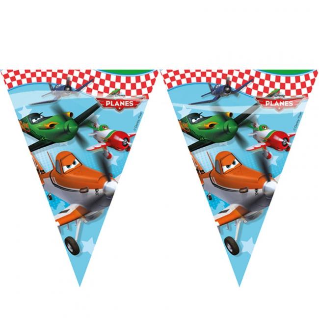 Plastic vlaggenlijn van Planes 2,3 meter
