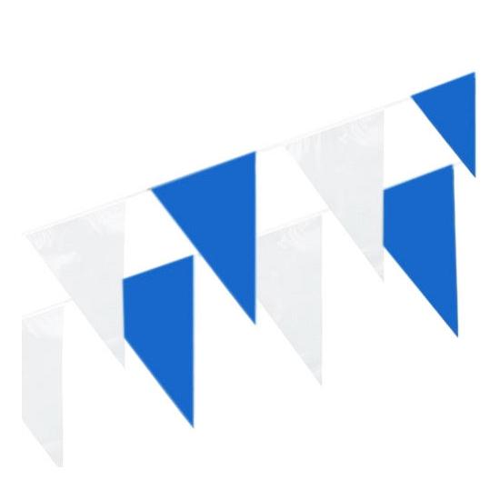 Plastic vlaggetjes in het blauw/wit