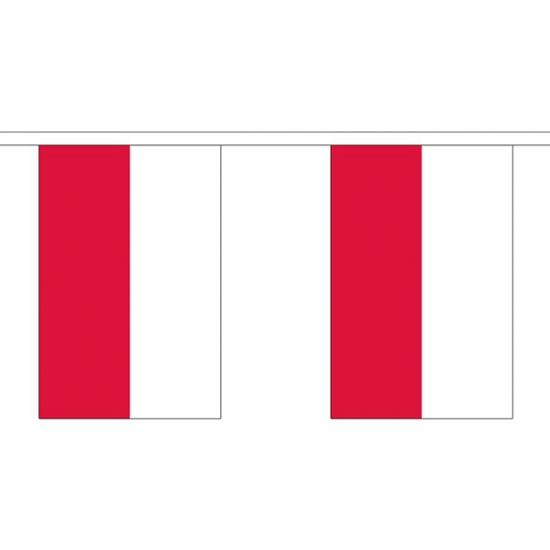 Polen vlaggenlijn van stof 3 m