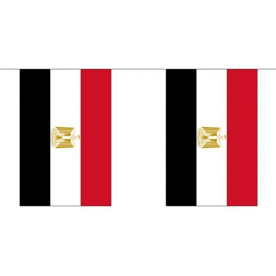 Polyester vlaggenlijn Egypte 3 m