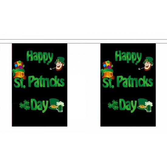 Polyester vlaggenlijn St. Patricks day