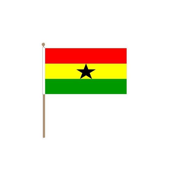 Polyester zwaaivlag van Ghana klein