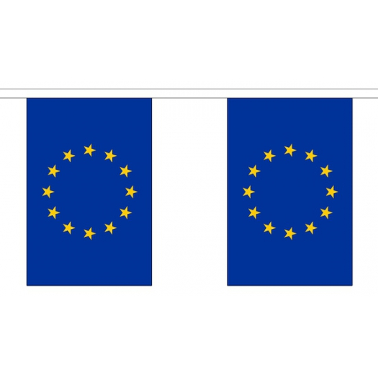 Polyster vlaggenlijn Europa 3 m