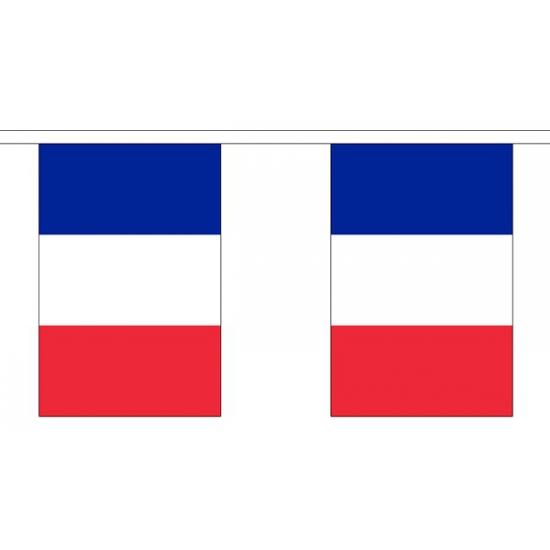 Polyster vlaggenlijn Frankrijk 3 m
