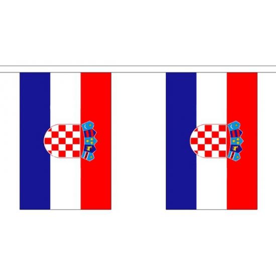Polyster vlaggenlijn Kroatie 3 m