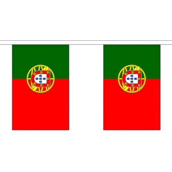 Portugal vlaggenlijn van stof 3 m