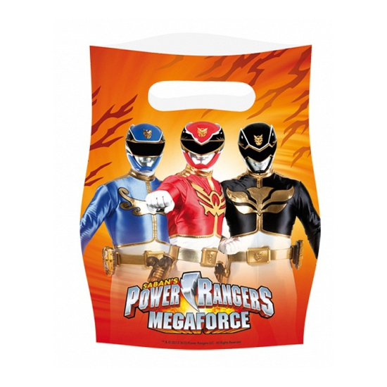 Power Rangers plastic zakjes