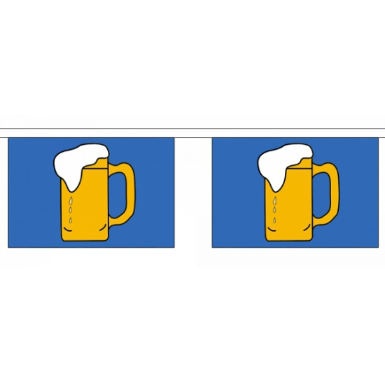 Rechthoekige bier vlaggenlijn