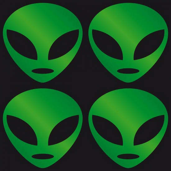 Reflecterende Alien stickers groen