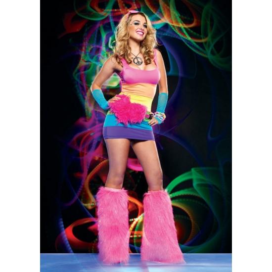 Regenboog verkleed jurkje voor dames