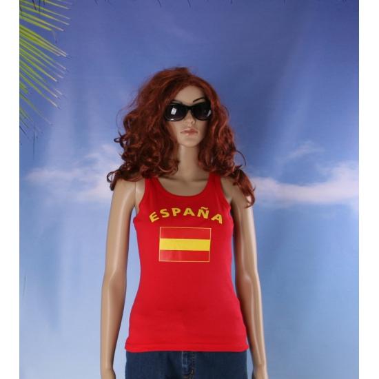 Rode dames tanktop Spanje