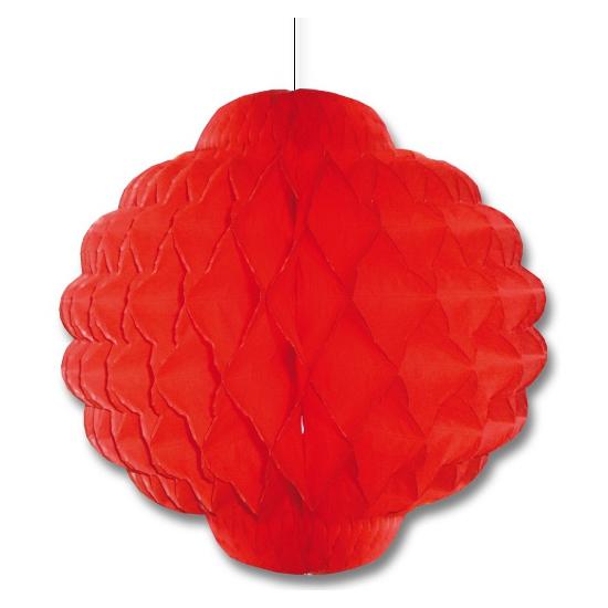 Rode decoratie lampion 30 cm