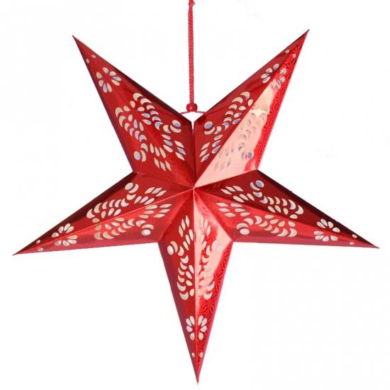 Rode decoratie ster 60 cm