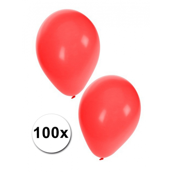 Rode feest ballonnen 100 stuks