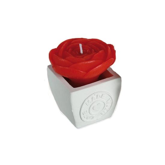Rode roos kaarsen