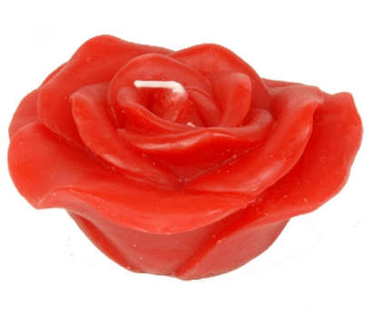 Rode roos kaarsjes 10 cm