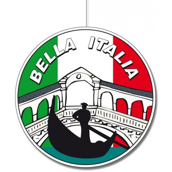 Ronde Italie hangdecoratie 28 cm