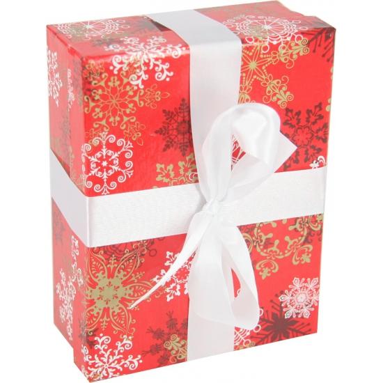 Rood kerst inpak doosje 16 cm