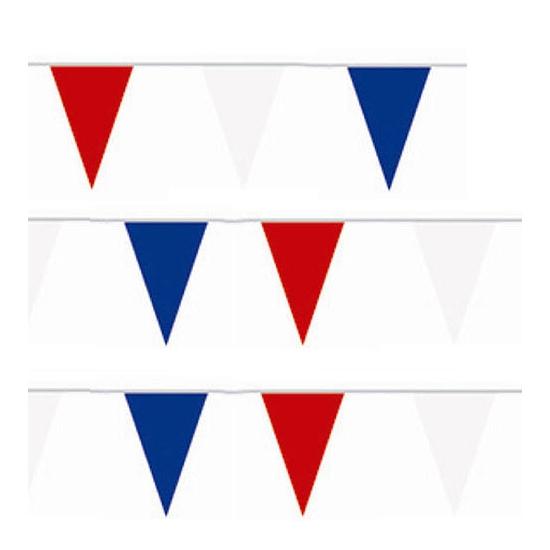 Rood wit blauwe vlaggenlijn 10 meter