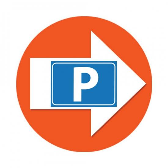 Route aanduiding stickers Parkeren oranje