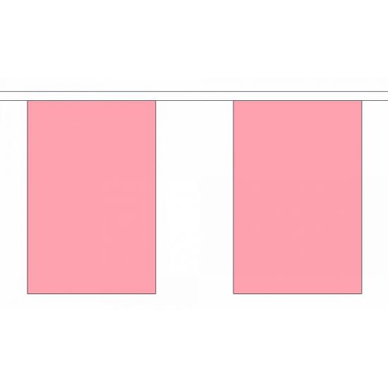 Roze vlaggenlijnen van polyester