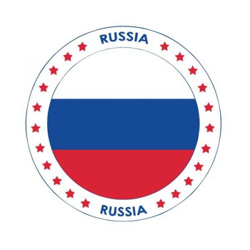 Rusland vlag print bierviltjes