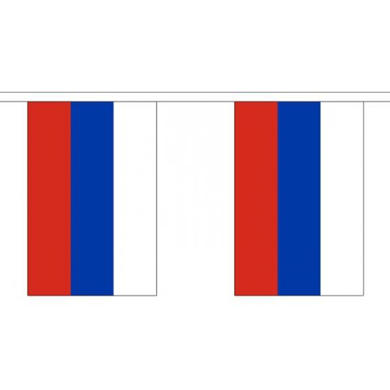 Rusland vlaggenlijn van stof 3 m