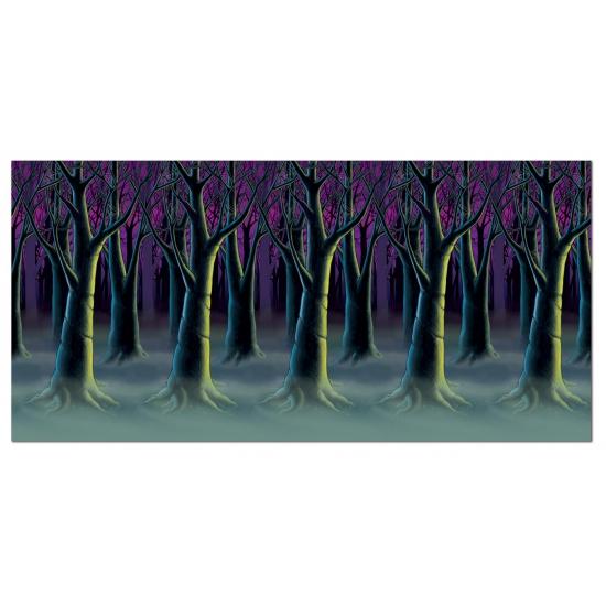 Scenesetter horror bos met mist 121 x 914 cm