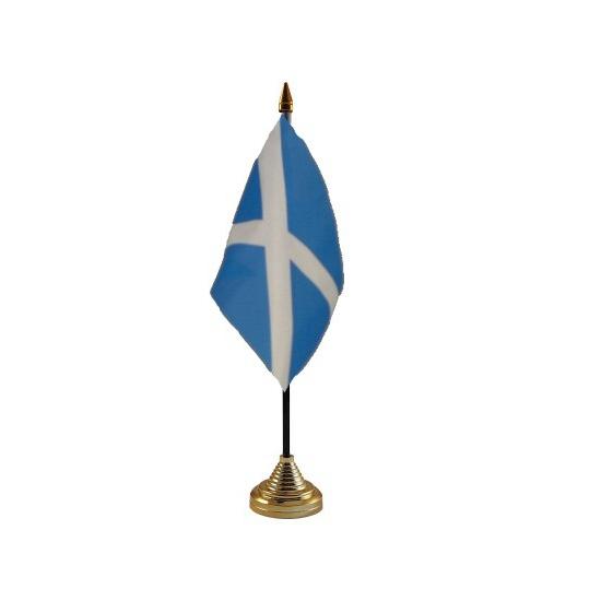 Schotse tafelvlag met standaard