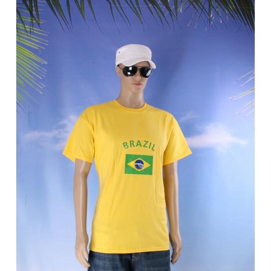 Shirts met vlag van Brazilie heren