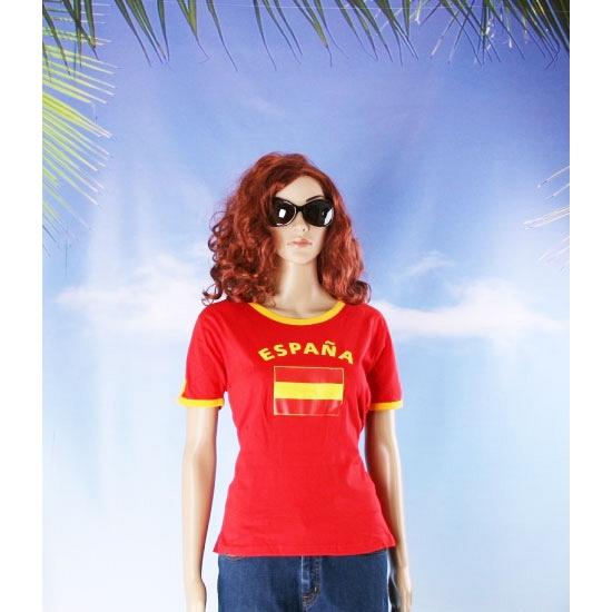 Shirts met vlag van Spanje dames